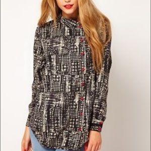 ASOS Shirt With Split Back And Check Print